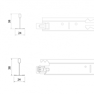 T38/38 防震型:(平接型)